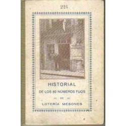 Historial de los 80 números fijos de Lotería Mesones.