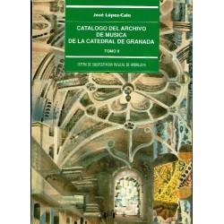 Catálogo del archivo de música de la Catedral de Granada. 2 vols.