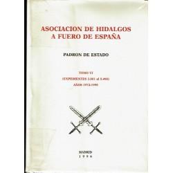 Padrón de Estado. Tomo VI (expedientes 3881 al 5490) Años 1972-1995.