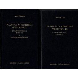 Plantas y remedios medicinales (De materia medica). Pseudo Dioscórides. 2 vols.