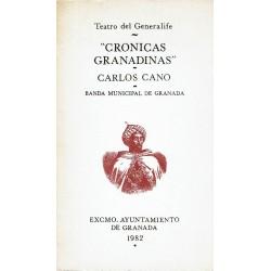 """Programa del concierto """"Crónicas granadinas"""" de Carlos Cano en el Teatro del Generalife en 1982."""