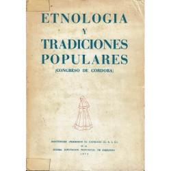 Etnología y tradiciones populares (Congreso de Córdoba).