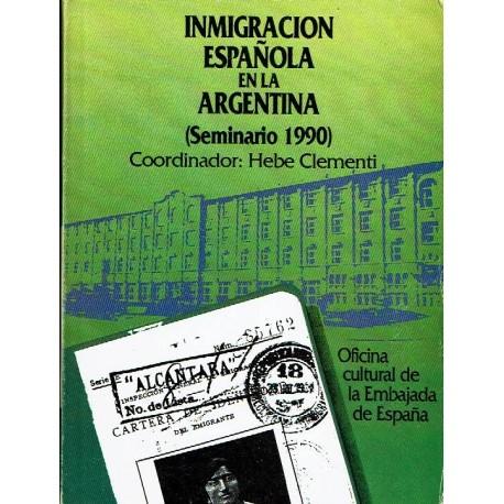 Inmigración española en la Argentina (Seminario 1900)..