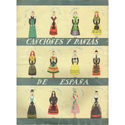Canciones y danzas de España.