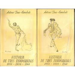 Historia de tres temporadas 1958-1959-1960. 2 vols.