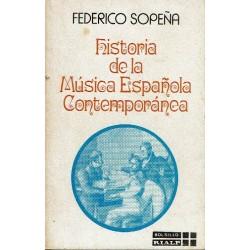 Historia de la música española contemporánea.