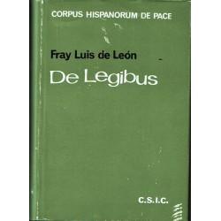De legibus o tratado de las leyes (1571).
